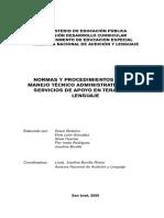 Normas y Procedimientos, Especialidad Terapia Del Lenguaje_0