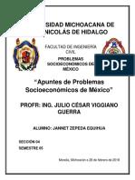 Antología de Problemas Socieconomicos de México 1 ING. JULIO CÉSAR VIGGIANO GUERRA