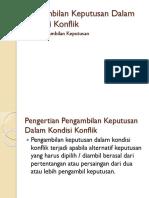 Materi 7 Pengambilan Keputusan Dalam Kondisi Konflik