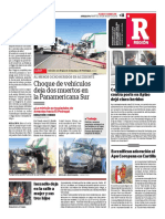 Choque de Vehiculos Correo Arequipa 2018