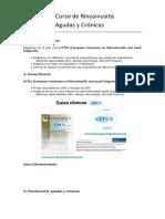 Curso Rinosinusitis Agudas y Crónicas. Sinusitis Fúngicas