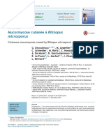 Mucormicosis Cutánea Con Rhizopus Microsporus