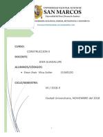 Informe - Einer Vilca Solier - Construccion II