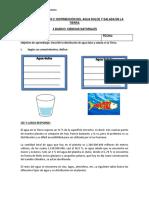 Guia de Apliacion 2 Distribucion de Agua Dulce, Salada y Formas Sobre La Hidrosfera 5 Basico