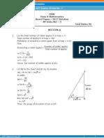 x 2017 Mathematics Allindia Set 3 Solutions