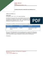 Certificado Luces de Emergencia AVIACION MORELLI CARRERA