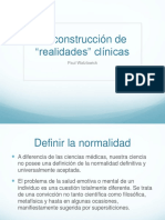 Construcción de realidades clínicas