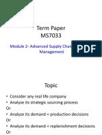 Term Paper Instructions