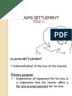 Claims Settlement