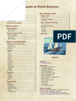 Seafaring in Fifth Edition