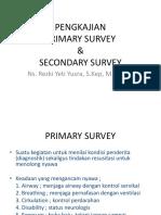 Pengkajian Primary Secondary Survey