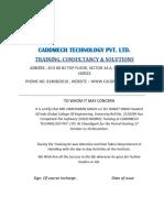 0 Training Certificate