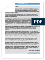 Ficha Curricular Agosto 2018