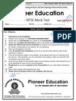 Mental Ability Test MK2015101 Question Paper