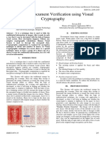 Electronic Document Verification using Visual Cryptography
