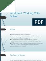 MS Excel - Module 5