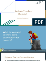 student and teacher burnout