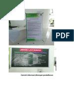 Contoh Informasi Ditempat Pendaftaran