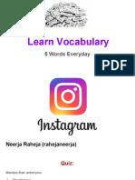 Learn Vocabulary Set 56