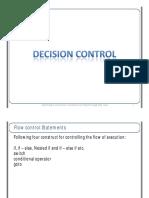 Decision Control