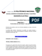 ENTRADA Y SALIDA ESTANDART C++