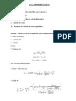 Cálculo Hidráulico y Cotas 2-2018