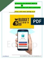 Union BUdget 2018-2019
