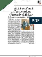 Diabetici, i trent'anni dell'associazione - Il Resto del Carlino del 25 novembre 2018