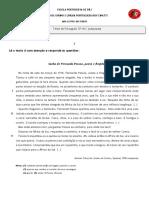 Teste de Português 12º Fernando Pessoa  2017-18 -Adaptado PLNM