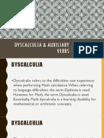 Dyscalculia & Auxiliary Verbs