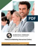 Uf1782 Politicas de Marketing Internacional Online