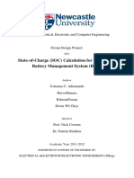 Automotive Battery Management System (BMS) using State-of-Charge (SOC) Estimation