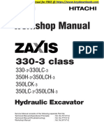 Hitachi Zaxis 330-3-350-3 Class Hydraulic Excavator Service Repair Workshop Manual Download-001-040