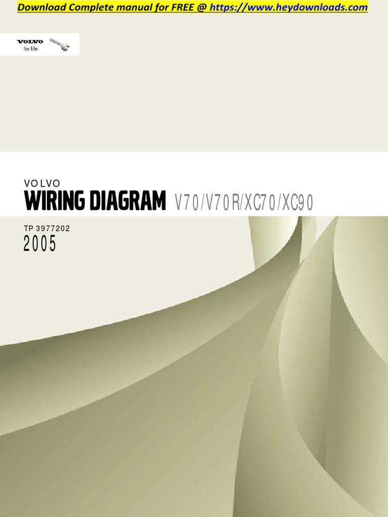 Volvo Xc70 2005 V70 V70r Xc70 Xc90 Wiring Diagram Airbag Vehicle Technology