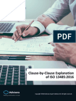 Clause by Clause Explanation of ISO 13485 2016 En