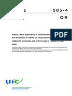 UIC 505-4 4th edition, November 2007