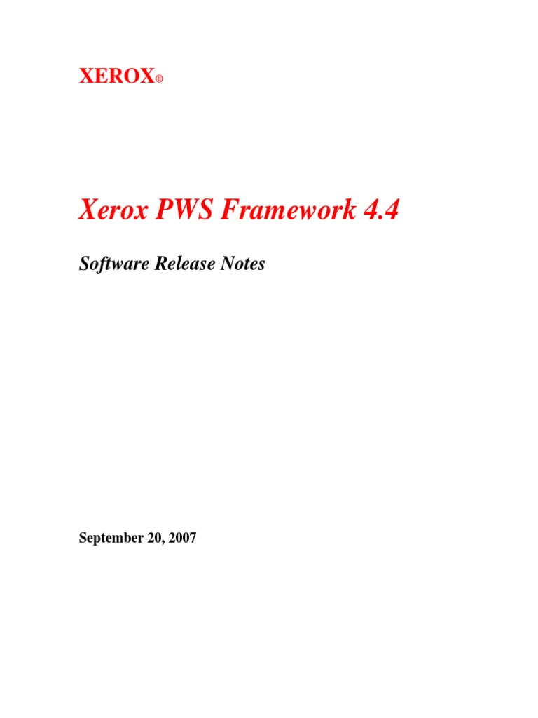 Xerox pws software download