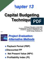 3 Capital Budgeting Techniques