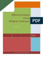 Bible Correctness Versus Religious Confusion