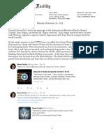 Confrontation between Karen Hudes, Overseer Mandate Trustee and the Black Nobility Twitter11.26.18