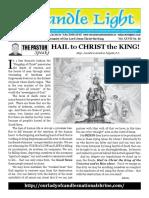 Christ the King; Candle Light-November 25-December 1, 2018
