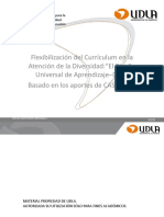 Flexibilización Del Currículum .El Diseño Universal de AP.dua