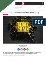 Reportajes Industria Historia Blockchain Cinco Hitos 1997 Hoy