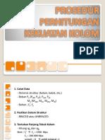 5. PROSEDUR PERHITUNGAN KEKUATAN KOLOM-1.pptx