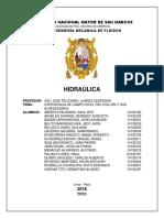 Informe de Hidraulica-salida de Campo
