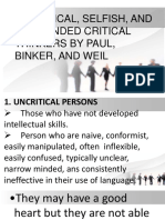 Types of Thinker. Ppt