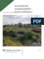 Regional Municipal Stormwater Management Comprehensive Approach