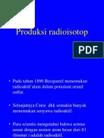 Produksi radioisotop
