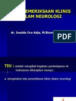Tata Cara Pemeriksaan Neurologi