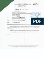 Division Memorandum No. 221. s. 2018